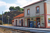 Train station. Banyuls sur Mer, Roussillon, France