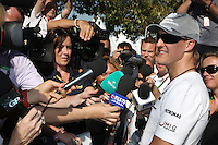 F1 GP of Australia, Melbourne 26. - 28. March 2010.Michael Schumacher (GER), Mercedes GP ..Picture: Hasan Bratic/Universal News And Sport (Europe) 26 March 2010.