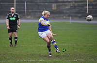 Picture by Anna Gowthorpe/SWpix.com - 15/04/2018 - Rugby League - Womens Super League - Bradford Bulls v Leeds Rhinos - Coral Windows Stadium, Bradford, England - Leeds Rhinos' Rhiannon Marshall scores a conversion