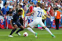Jacob Murphy of England and Laszlo Benes of Slovakia during Slovakia Under-21 vs England Under-21, UEFA European Under-21 Championship Football at The Kolporter Arena on 19th June 2017