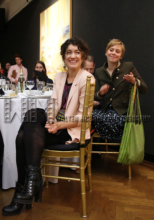 Sarah Stiles and Kate Tarker attends The Vineyard Theatre's Emerging Artists Luncheon at The National Arts Club on November 9, 2017 in New York City.
