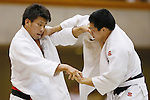 (L-R) Toshimasa Ogata, Seidai Sato, September 14, 2014 - Judo : All Japan Junior Judo Championships Men's -81kg Final at Saitama Prefectural Budokan, Saitama, Japan. (Photo by Yusuke Nakanishi/AFLO SPORT) [1090]