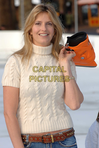 Penny Lancaster Stewart opens Winter Wonderland ice rink in hyde park, london 29/11/2007 pic by wiz.