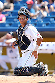 Lake County Captains catcher Alex Lavisky #10 during the first game of a double header against the West Michigan Whitecaps at Classic Park on May 30, 2011 in Eastlake, Ohio.  West Michigan defeated Lake County 5-0.  Photo By Mike Janes/Four Seam Images