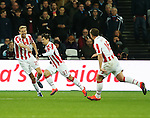 Stoke's Bojan Krkic celebrates scoring his sides opening goal during the Premier League match at the London Stadium, London. Picture date November 5th, 2016 Pic David Klein/Sportimage