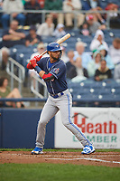 New Hampshire Fisher Cats shortstop Lourdes Gurriel Jr. (16) at bat during a game against the Trenton Thunder on August 19, 2018 at ARM & HAMMER Park in Trenton, New Jersey.  New Hampshire defeated Trenton 12-1.  (Mike Janes/Four Seam Images)