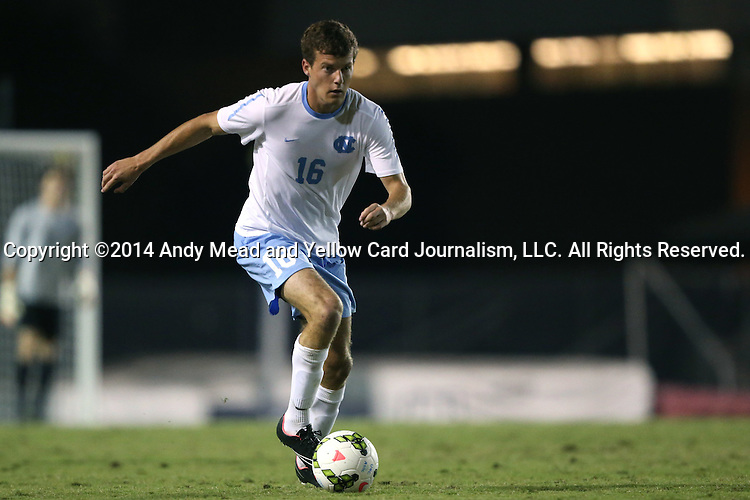 28 October 2014: North Carolina's Rob Lovejoy. The University of North Carolina Tar Heels hosted the Georgia Southern University Eagles at Fetzer Field in Chapel Hill, NC in a 2014 NCAA Division I Men's Soccer match. North Carolina won the game 6-2.