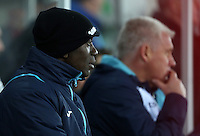 Swansea City assistant manager Claude Makélélé during the Premier League match between Swansea City and Leicester City at The Liberty Stadium, Swansea, Wales, UK. Sunday 12 February 2017