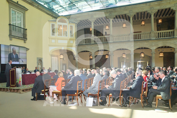 03.10.2012. VIII COTEC Europe Meeting, co-chaired by King Juan Carlos of Spain, the President of the Italian Republic, Giorgio Napolitano, and the President of the Portuguese Republic, Aníbal Cavaco Silva, at the Royal Palace of El Pardo, Madrid, Spain. In the image Giorgio Napolitano, King Juan Carlos and Aníbal Cavaco Silva (Alterphotos/Marta Gonzalez)