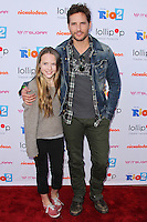 "BURBANK, CA, USA - APRIL 26: Lola Ray Facinelli, Peter Facinelli at the Lollipop Theater Network's Night Under The Stars Screening Of Twentieth Century Fox's ""Rio 2"" Hosted by Anne Hathaway held at Nickelodeon Animation Studios on April 26, 2014 in Burbank, California, United States. (Photo by Xavier Collin/Celebrity Monitor)"