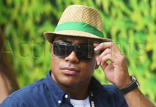 12.01.2017. ASB Tennis Centre, Auckland, New Zealand. ASB Classic Tennis, Day 13. All Blacks player Malakai Fekitoa watches the tennis at the ASB Classic.