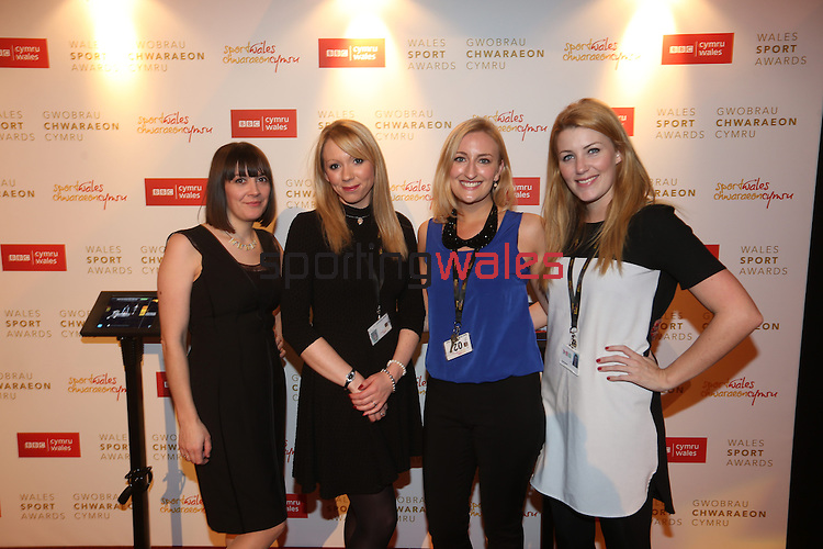 Wales Sport Awards 2013<br /> Jane Thomas, Claire Nicholson, Laura Anderson & Carly Harris<br /> 09.11.13<br /> ©Steve Pope-SPORTINGWALES