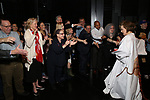 Joanna Glushak with Christine Ebersole and Patti Lupone and cast during the Actors' Equity Gypsy Robe honoring Joanna Glushak for 'War Paint' at the Nederlander Theatre on April 6, 2017 in New York City
