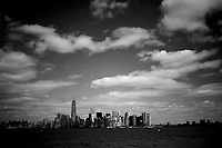 Lower Manhattan is seen from a ferry on Saturday, April 5, 2014, on the Hudson River in New York. (Photo by James Brosher)