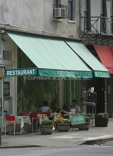 WWW.ACEPIXS.COM . . . . . ... . . EXCLUSIVE . . FEE MUST BE AGREED BEFORE USE . . . ..NEW YORK, AUGUST 31, 2004. Cafe Colonial Restaurant on East Houston Street where Lara Flynn Boyle had lunch. Please byline: Alecsey Boldeskul - ACE PICTURES.   .. *** ***  ..Ace Pictures, Inc  ** ..Alecsey Boldeskul (646) 267-6913 **..Philip Vaughan (646) 769-0430 **..e-mail: info@acepixs.com..web: http://www.acepixs.com