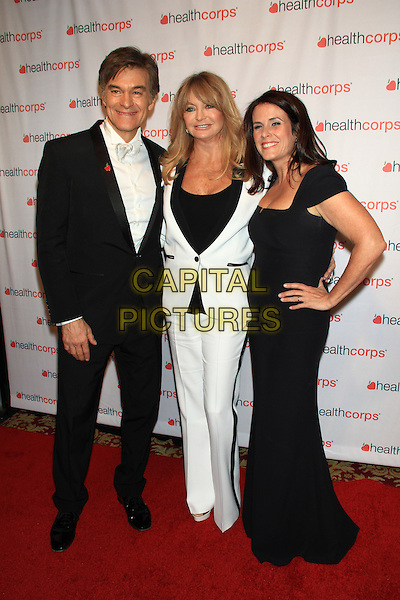 NEW YORK, NY - APRIL 9: Dr. Mehmet Oz, Goldie Hawn &amp; Lisa Oz attends HealthCorps' 8th Annual Gala at the Waldorf-Astoria on April 9, 2014 in NEW YORK CITY<br /> CAP/LNC/TOM<br /> &copy;TOM/LNC/Capital Pictures