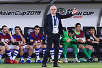 Uzbekistan Head Coach Cuper Hector Raul reacts during the AFC Asian Cup UAE 2019 Group F match between Japan (JPN) and Uzbekistan (UZB) at Khalifa Bin Zayed Stadium on 17 January 2019 in Al Ain, United Arab Emirates. Photo by Marcio Rodrigo Machado / Power Sport Images