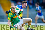 Ronan Hussey South Kerry in action against Tommy Begley Kerins O'Rahillys in the Kerry Senior Football Championship Semi Final at Fitzgerald Stadium on Saturday.