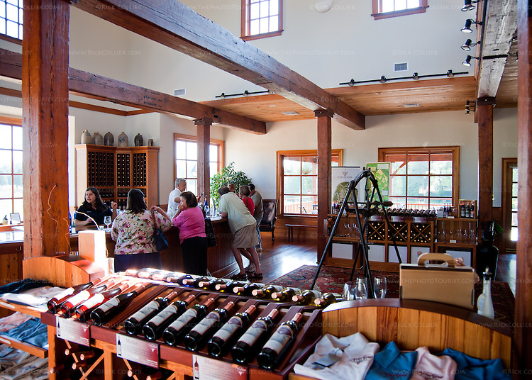 The spacious and attractive tasting room at New Kent Winery.