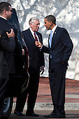 In Washington, DC on February 25, 2010, United States President Barack Obama chats with U.S. House Majority Leader Steny Hoyer Democrat of Maryland) on his way back to the White House from the nearby Blair House where the President is hosting a bipartisan meeting with members of Congress to discuss health reform legislation..Credit: Jim Lo Scalzo / Pool via CNP