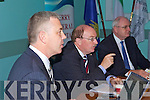 TEAM: Members of the HSE team who are re-configuring the delivery of health services in Kerry and Cork at a press conference in Kerry General Hospital on Tuesday, l-r: Prof John Higgins, Gerry O'Dwyer (Hospitals Network Manager) and Pat Healy (HSE).