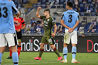 Giovanni Simeone of Cagliari celebrates after scoring the goal of 0-1 during the Serie A football match between SS Lazio and Cagliari Calcio at Olimpico stadium in Rome ( Italy ), July 23th, 2020. Play resumes behind closed doors following the outbreak of the coronavirus disease. Photo Andrea Staccioli / Insidefoto