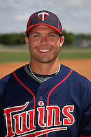 Minnesota Twins shortstop Levi Michael #16 poses for a photo after a minor league spring training intrasquad game at the Lee County Sports Complex on March 25, 2012 in Fort Myers, Florida.  (Mike Janes/Four Seam Images)