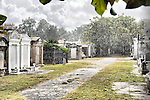 Lafayette Cemetery #2 located in Uptown New Orleans and additional images of the streetcar on St. Charles Avenue.