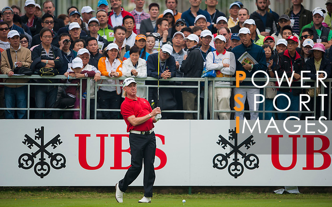 Players in action during day four of the UBS Hong Kong Open Championship at the Hong Kong Golf Club on 18 November 2012, in Fanling. Photo by Victor Fraile / The Power of Sport Images