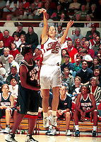 STANFORD, CA - MARCH 9: Lindsey Yamasaki of the Stanford Cardinal during Stanford's 79-72 loss against the Arizona Wildcats on March 9, 2000 at Maples Pavilion in Stanford, California.