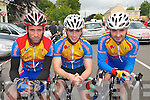 RACE: Members of the Earl of Desmond Cycling Club Tralee who competed in the  annual John Drumm Memorial Cycle Race in Currow on Sunday last..L/r. Thomas Flaherty, Brendan Lacey and Mike Leary.   Copyright Kerry's Eye 2008