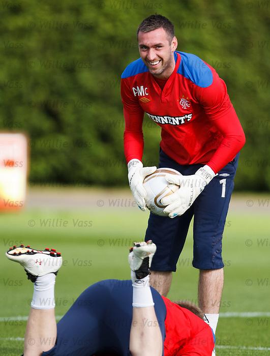 Allan McGregor having a wee chortle