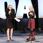 "Julie Halston hosts Sophia Anne Caruso previewing ""Beetlejuice"" during BroadwayCon at New York Hilton Midtown on January 13, 2019 in New York City."
