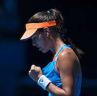 ANA IVANOVIC (SERBIA)<br /> <br /> Tennis - Australian Open - Grand Slam -  Melbourne Park -  2014 -  Melbourne - Australia  - 13th January 2013. <br /> <br /> &copy; AMN IMAGES, 1A.12B Victoria Road, Bellevue Hill, NSW 2023, Australia<br /> Tel - +61 433 754 488<br /> <br /> mike@tennisphotonet.com<br /> www.amnimages.com<br /> <br /> International Tennis Photo Agency - AMN Images