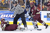 Stephen Gionta, Greg Moore, Tim Filangieri - The Boston College Eagles defeated the University of Maine Black Bears 4-1 in the Hockey East Semi-Final at the TD Banknorth Garden on Friday, March 17, 2006.