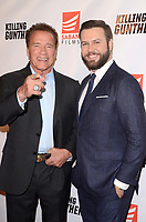 "LOS ANGELES - OCT 14:  Armold Schwarzenegger, Taran Killam at the ""Killing Gunther"" Los Angeles Special Screening at the TCL Chinese 6 Theaters on October 14, 2017 in Los Angeles, CA"