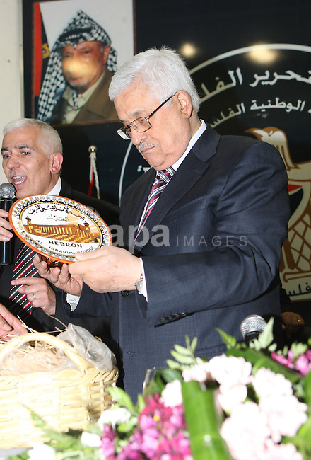 Palestinian President, Mahmoud Abbas (Abu Mazen), visits the Hebron province headquarters in the West Bank city of Hebron on, Aug. 01, 2012. Photo by Thaer Ganaim