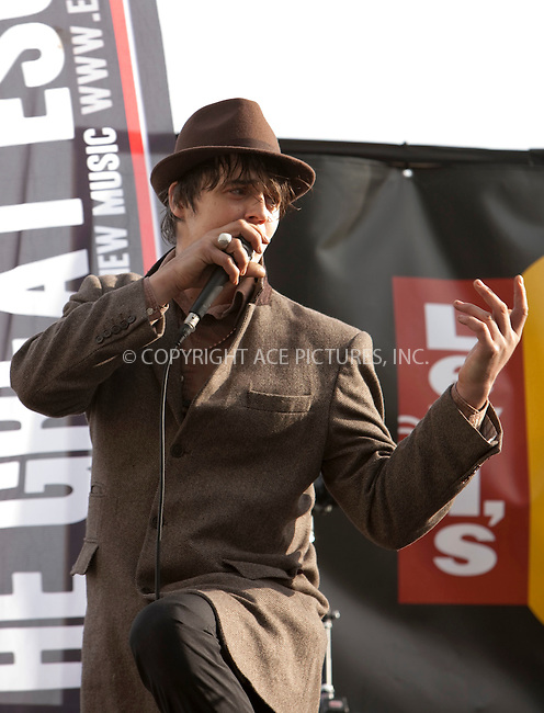 WWW.ACEPIXS.COM . . . . .  ..... . . . . US SALES ONLY . . . . .....May 26 2009, Brighton....Pete Doherty performing with Babyshambles at the Levi's OnesToWatch stage at The Great Escape Festival on May 26 2009 in Brighton......Please byline: FAMOUS-ACE PICTURES... . . . .  ....Ace Pictures, Inc:  ..tel: (212) 243 8787 or (646) 769 0430..e-mail: info@acepixs.com..web: http://www.acepixs.com