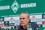 02.11.2019, wohninvest WESERSTADION, Bremen, GER, 1.FBL, Werder Bremen vs SC Freiburg<br /> <br /> DFL REGULATIONS PROHIBIT ANY USE OF PHOTOGRAPHS AS IMAGE SEQUENCES AND/OR QUASI-VIDEO.<br /> <br /> im Bild / picture shows<br /> Christian Streich (Trainer SC Freiburg) bei PK / Pressekonferenz nach Spielende, <br /> <br /> Foto © nordphoto / Ewert