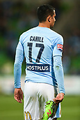 3rd November 2017, Melbourne Rectangular Stadium, Melbourne, Australia; A-League football, Melbourne City FC versus Sydney FC; Tim Cahill of Melbourne City FC walks around the field after injuring himself