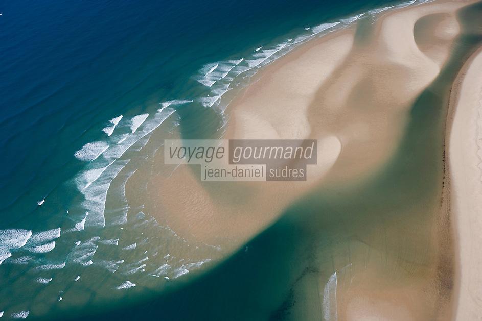 Europe/France/Aquitaine/33/Gironde/Bassin d'Arcachon: Plage océane de la Lagune - vue aérienne