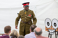 13th July 2019: Comedian President Obonjo performs his show 'Goddbye Mr President' on day 1 of the 2019 Comedy Crate Festival in Northampton