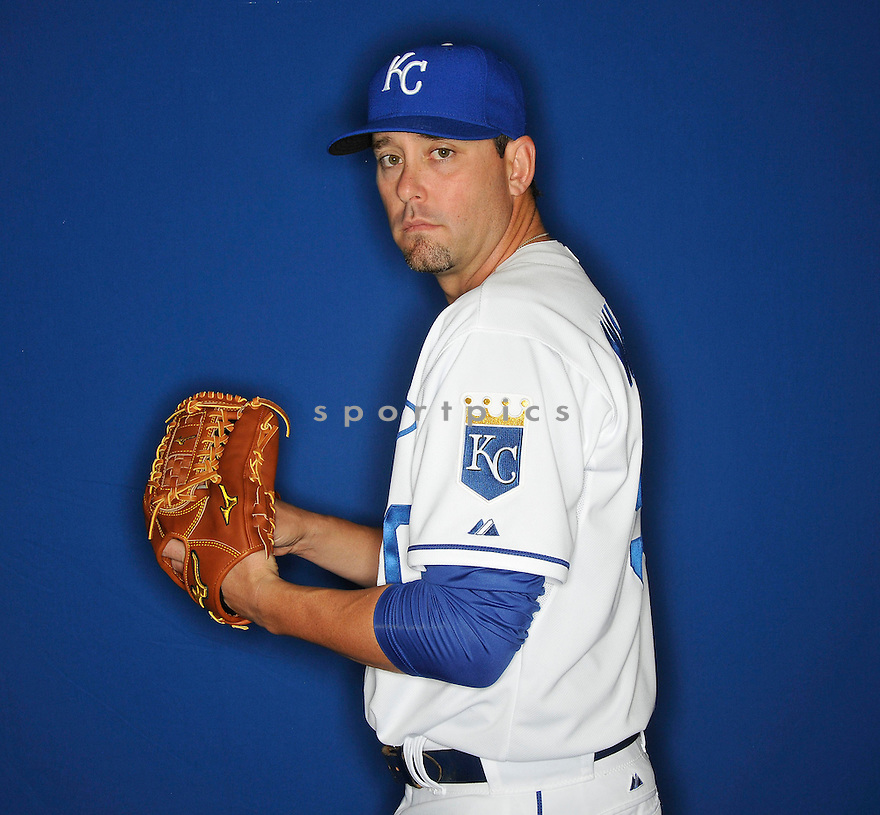 Kansas City Royals Dan Wheeler (50) during media photo day on February 21, 2013 at spring training in Surprise, AZ.
