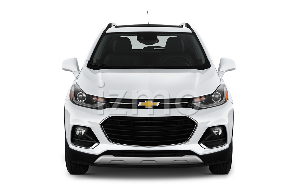 Car photography straight front view of a 2020 Chevrolet Trax Premier 5 Door SUV