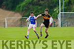 Billy Courtney Dr Crokes lays keeps track off Shane Brosnan Kerins O'Rahillys  during the County league clash in Killarney on Saturday