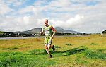 Padraig Marrey arriving to the line taking 1st place in Gaelforce West 2010,.the Ballinrobe man finished the 65km adventure race from Killary to Westport in a time of 3hrs.36mins 51sec...Pic Conor Mckeown
