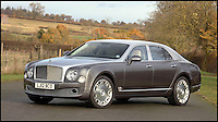 BNPS.co.uk (01202 558833)<br /> Pic: H&amp;H/BNPS<br /> <br /> 2012 Bentley Mulsanne with only 2300 miles on the clock - &pound;100,000.<br /> <br /> The &pound;1,000,000 garage sale... a stunning collection of luxury cars seized from the personal collection of a Middle Eastern sheikh has emerged. <br /> <br /> The impressive fleet, comprising Ferrari, Rolls-Royce and Bentley motors, has arrived at auction following a high court ruling against their former owner.<br /> <br /> Due to their unusual history many of the cars, all of which were UK based and have unusually low mileages, are being offered at a bargain price.