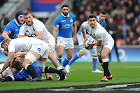 Ben Youngs of England passes during the Guinness Six Nations match between England and Italy at Twickenham Stadium on Saturday 9th March 2019 (Photo by Rob Munro/Stewart Communications)