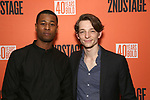 "J. Alphonse Nicholson and Mike Faist attend the After Party for the Second Stage Production of ""Days Of Rage"" at Churrascaria Platforma on October 30, 2018 in New York City."