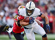 College Park, MD - NOV 11, 2017: Penn State Nittany Lions running back Saquon Barkley (26) runs the football during game between Maryland and Penn State at Capital One Field at Maryland Stadium in College Park, MD. (Photo by Phil Peters/Media Images International)